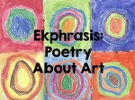 Ekphrastic clashing with Acrostic (poetry stylesentwined)