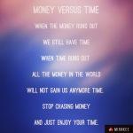 Money versus time