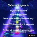 Universal frequencies
