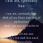 I am me, spirituallyfree