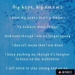 Big hopes, bigdreams