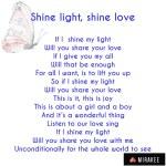 Shine light, sharelove