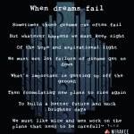 When dreams fail