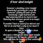 A tear shedtonight