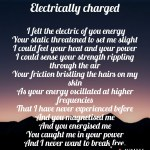 Electrically charged