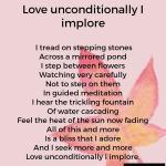 Love unconditionally Iimplore